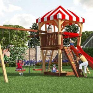 Детский игровой комплекс для дачи Савушка 12