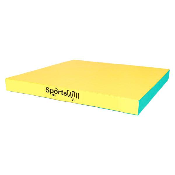 Гимнастический мат SportsWill (100 х 100 х 10)