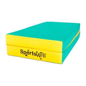 Гимнастический мат SportsWill (100 х 100 х 10) складной