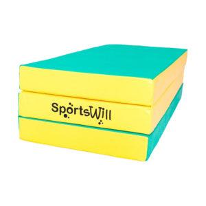 Гимнастический мат SportsWill (150 х 100 х 10) складной