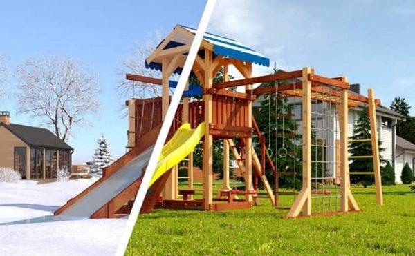 Детская площадка Савушка 4 сезона - 7