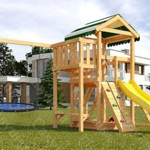 Детская площадка Савушка Мастер-2 + качели-гнездо