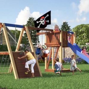 Детский игровой комплекс для дачи Савушка 3