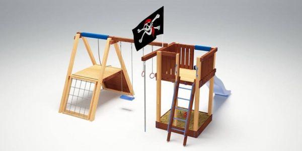 Детский игровой комплекс для дачи Савушка 3_4