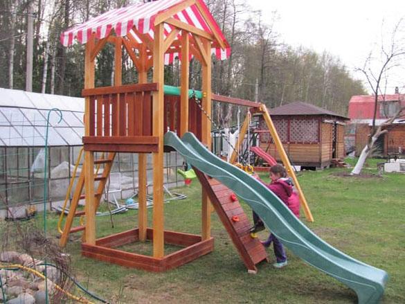 Детский игровой комплекс для дачи Савушка 5_6