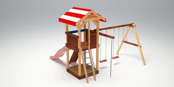 Детский игровой комплекс для дачи Савушка 5_5