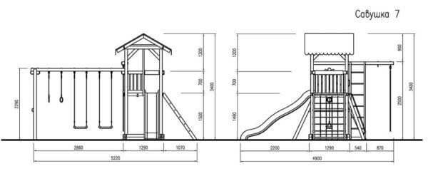Детский игровой комплекс для дачи Савушка 7_4