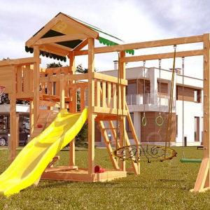 Детская площадка Савушка Мастер-4 + качели-гнездо