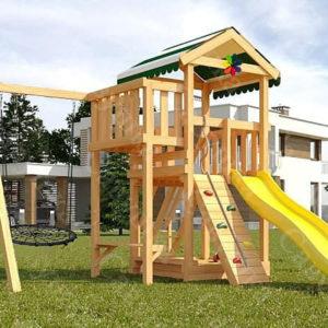Детская площадка Савушка Мастер-1 + качели-гнездо